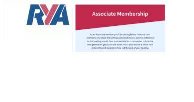 RYA Associate Membership